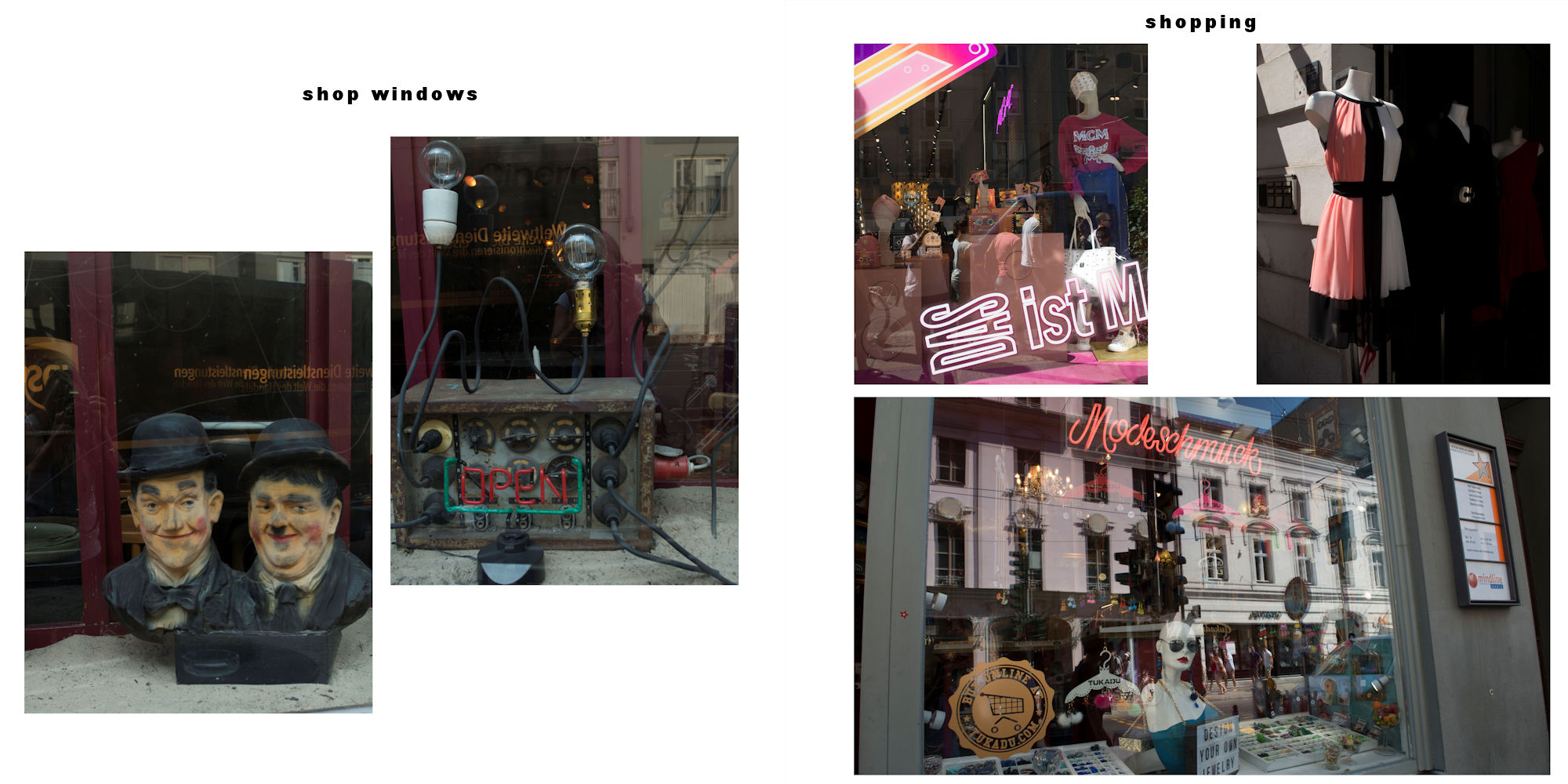 Berlin-2018 Album - Pages 10-11: Shop windows - From fad to fashion