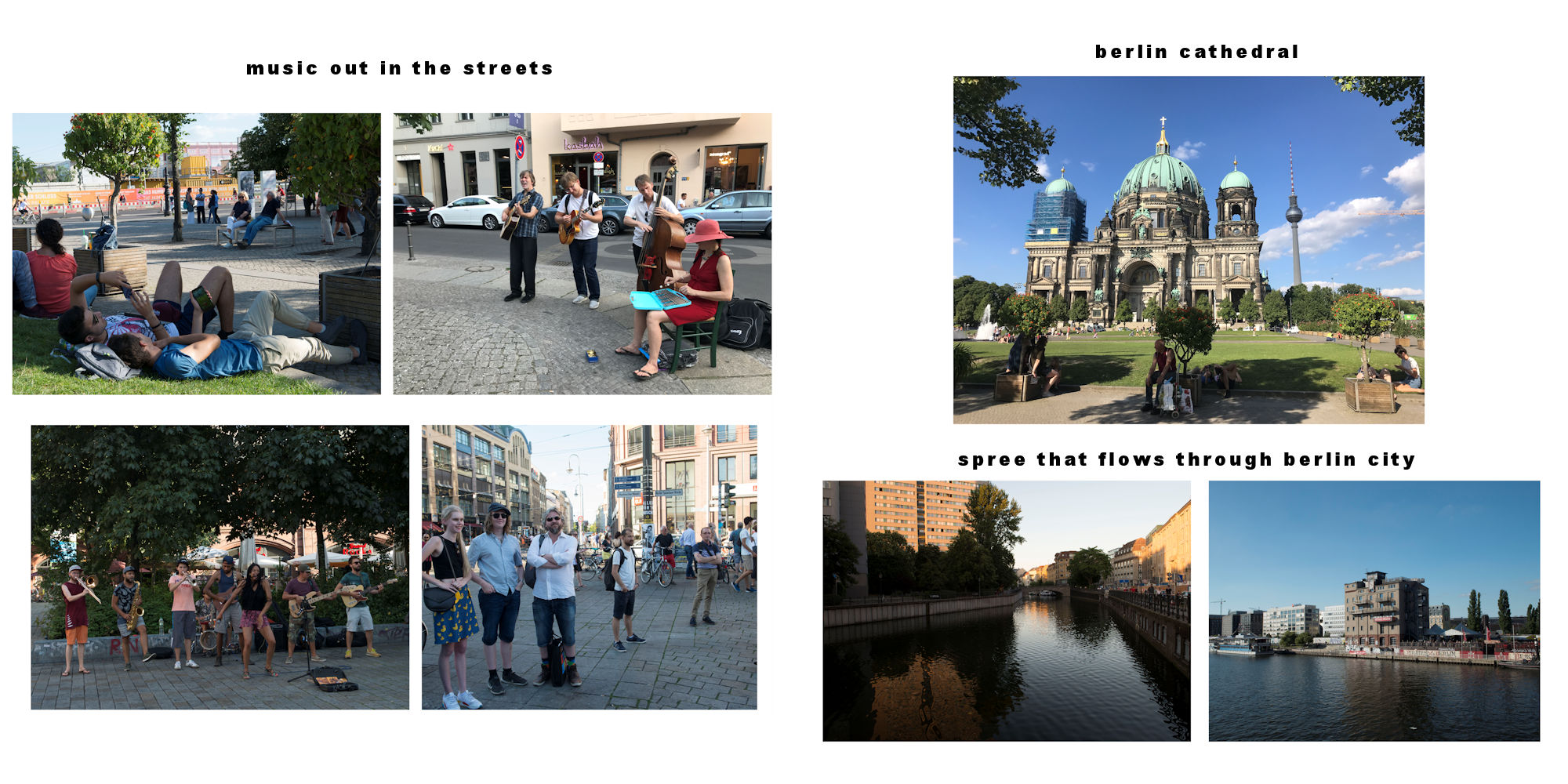 Berlin-2018 Album - Page 20: Street Musicians - Page 21:  Berlin Cathedral & the River Spree