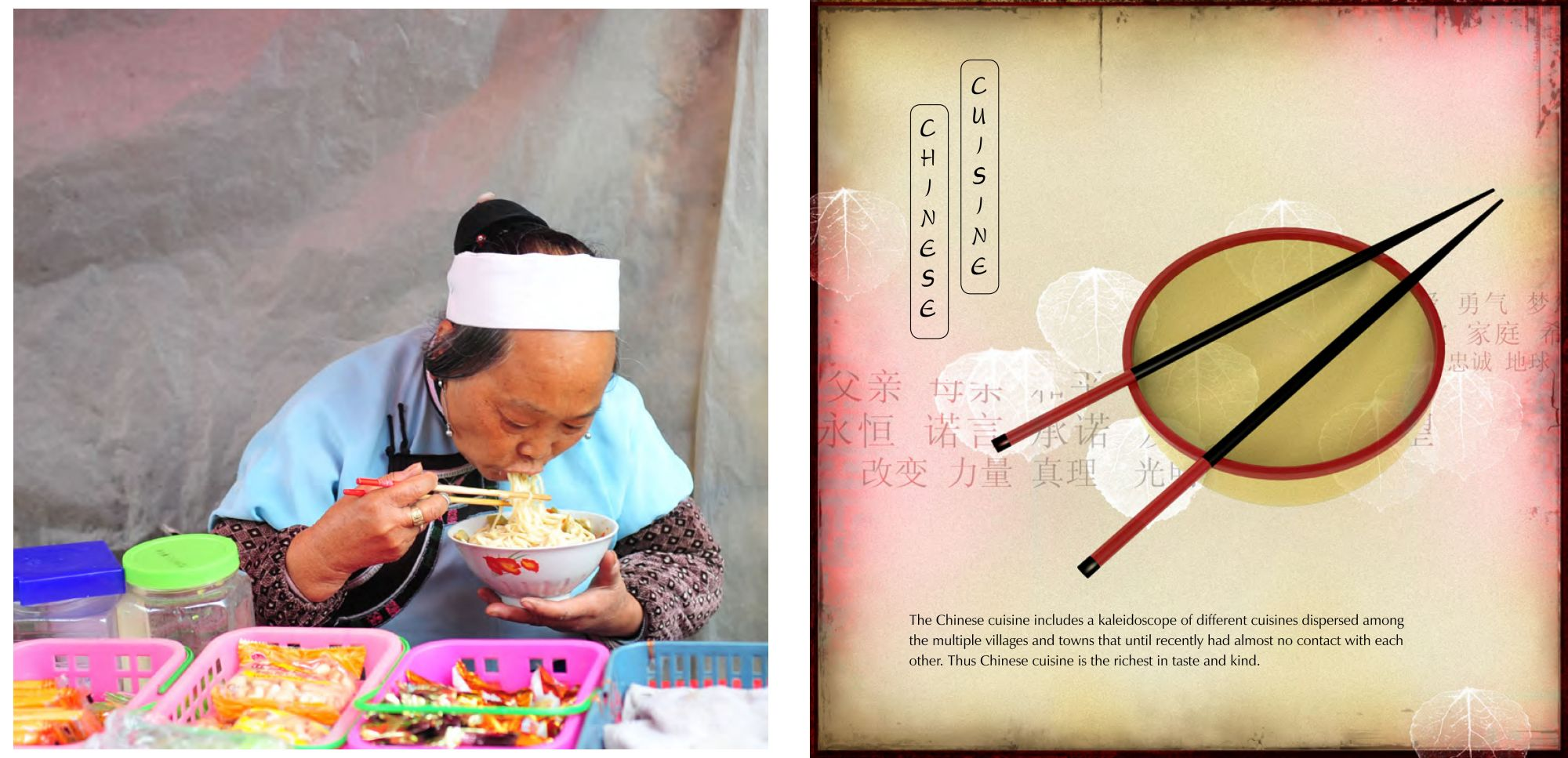 Page: 70 Eating Noodles, Page: 71 Chinese Cuisine a kaleidoscope of tastes