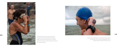 Page 86 Sea of Galilee, Swimmer getting ready/Page 87 Sea of Galilee, Swimmer number 40