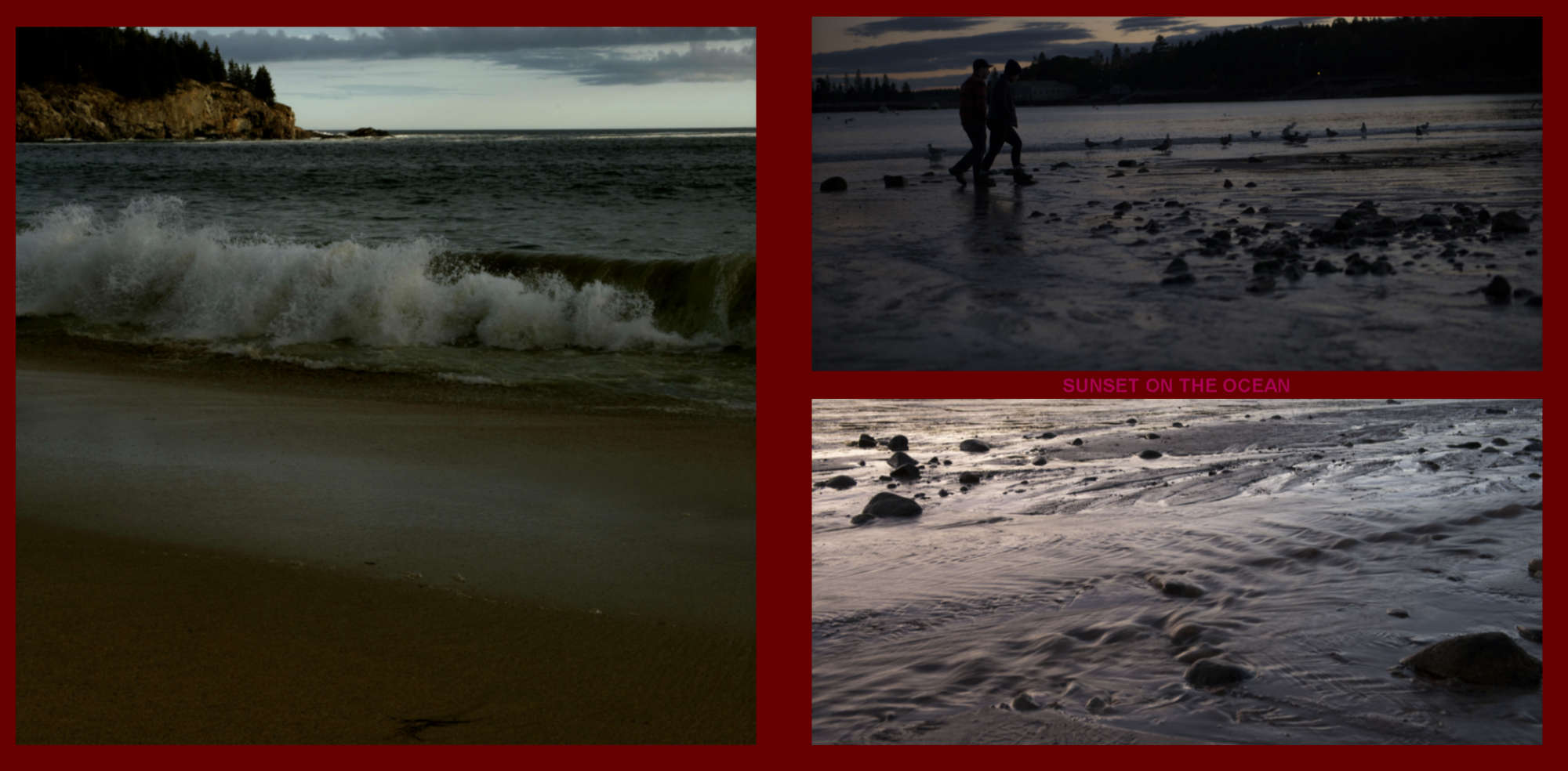 Fall in New-England Album - Pages 14-15 - Sunset and waves