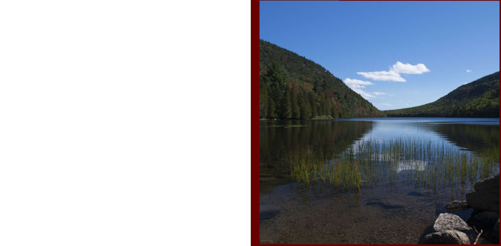 Fall in New-England Album - Pages 2-3 - Shallow waters