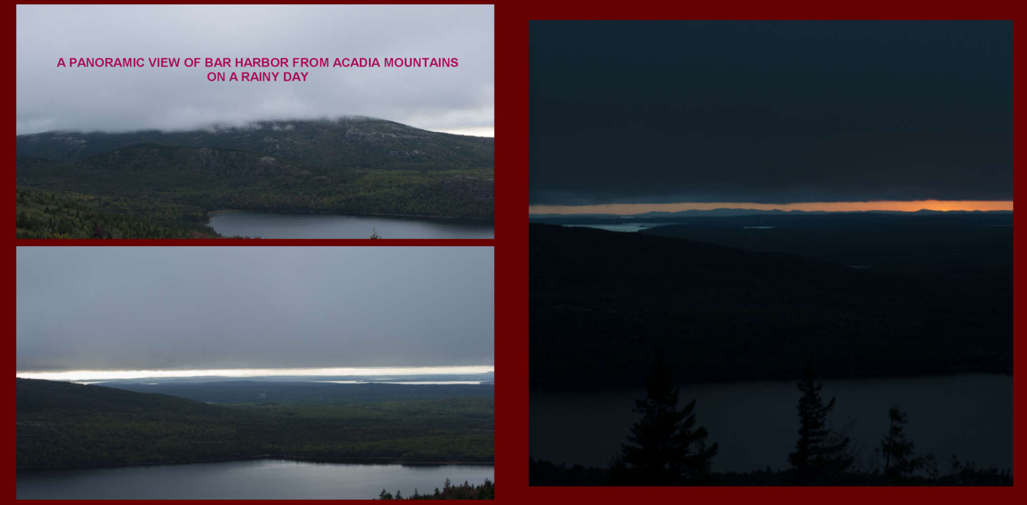 Fall in New-England Album - Pages 30-31 - A view of Acadia Mountains at sunset
