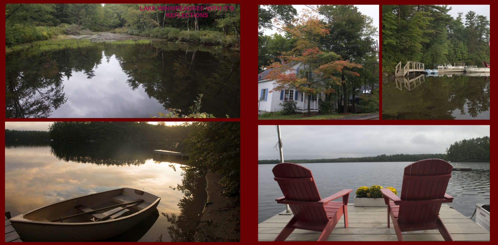 Fall in New-England Album - Page 40: Reflections in Lake Winnipesaukee - Page 41: Peace and quiet on the waters