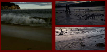 Fall in New-England Album - Page 14: A wave - Page 15: Sunset by the Ocean