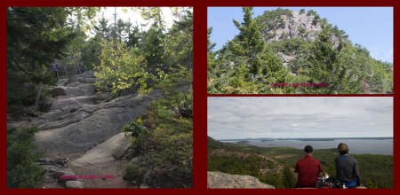 Fall in New-England Album - Page 20: Hiking the 'Bowl Trail'  -   Page 21: Mount Camplain & A well deserved rest