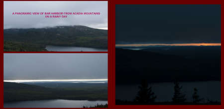 Fall in New-England Album - Pages 30-31: A view of Acadia Mountains at sunset