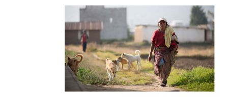 Guatemala Album - Pages 46-47: A village woman on her way to work