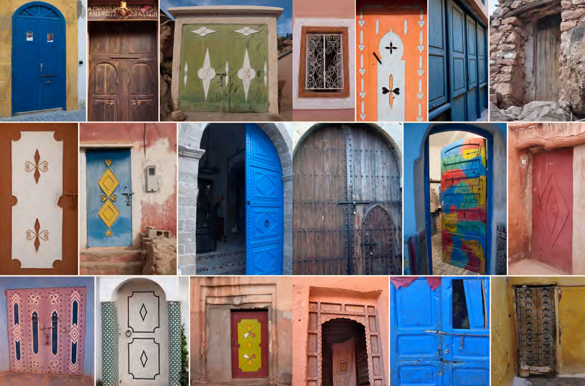 Pages 18-19: 18 Colored Doors