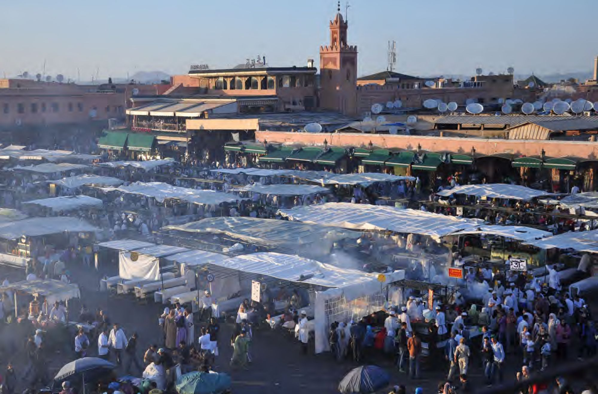 Pages 72-73: Market in Marrakesh