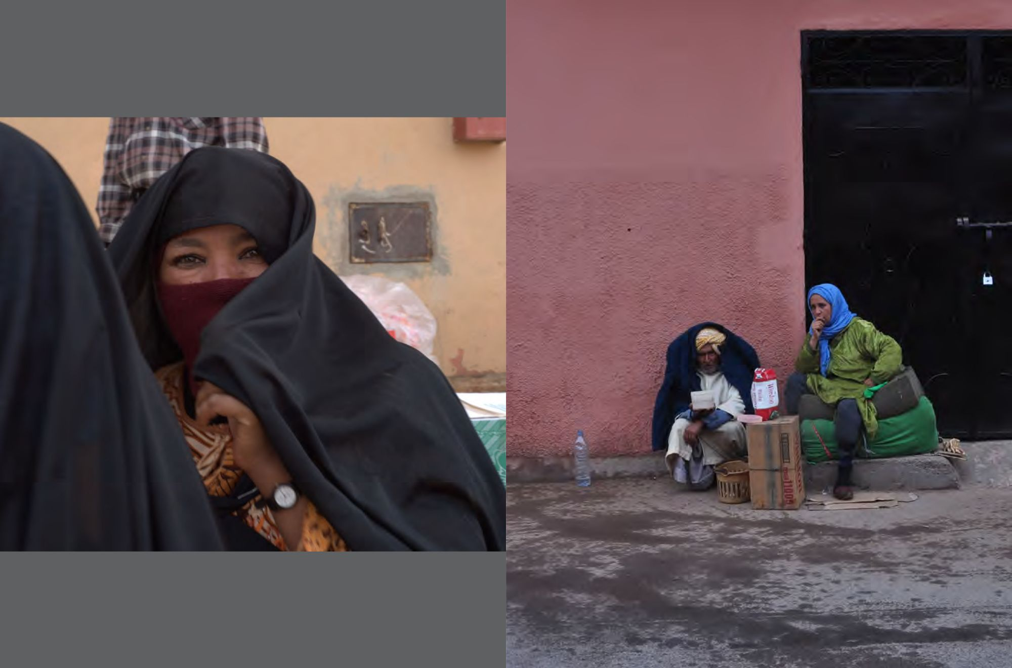 Page 90: Moroccan Woman / Page: 91 Selling cigarettes