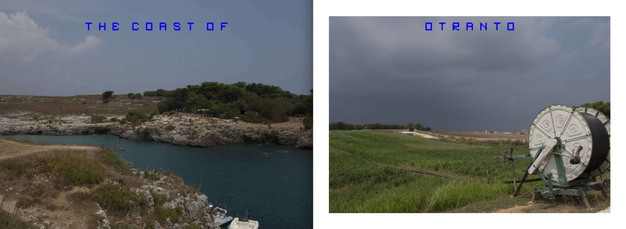 Puglia Album - Pages 14-15: Views of the coast of Otranto