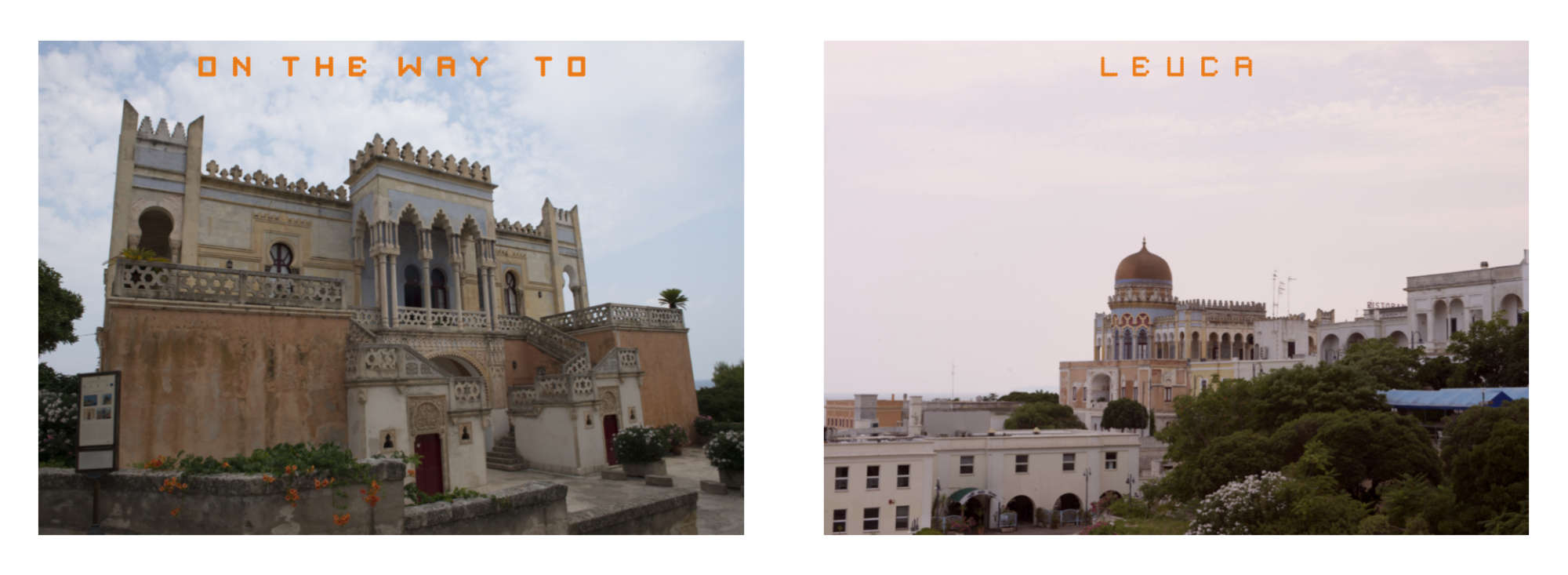 Puglia Album - PPages 16-17:  Luca and its antique monuments