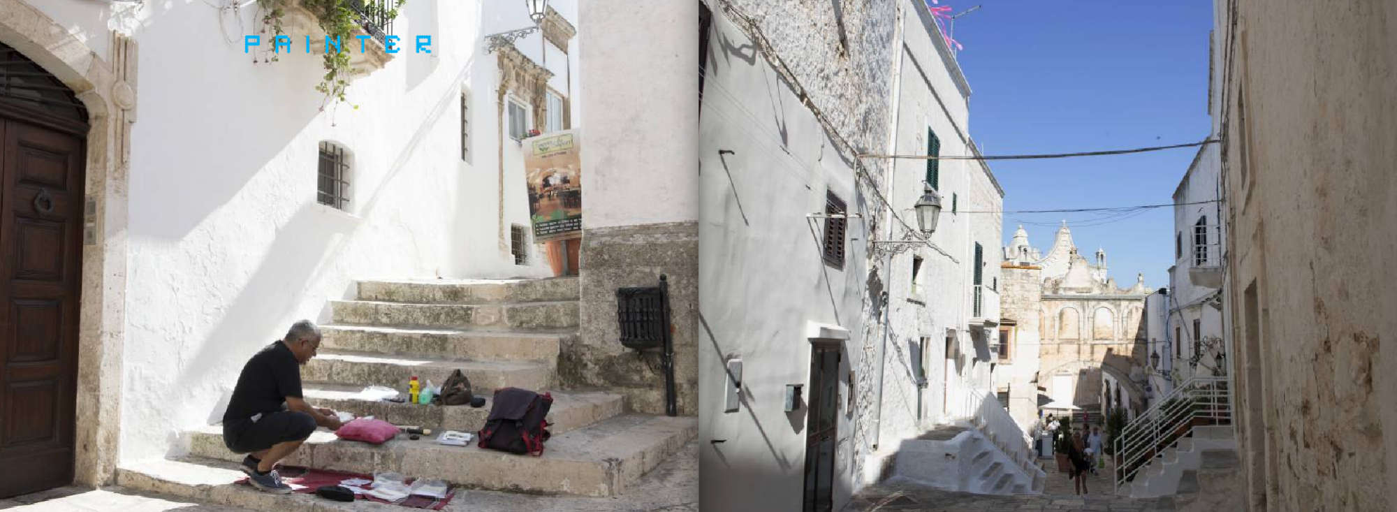 Puglia Album - Page 406: A painter on the steps - Page 41: The old city