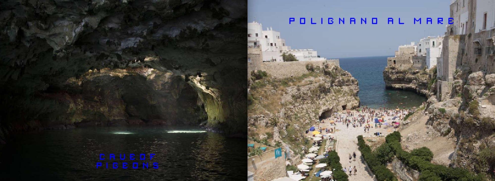 Puglia Album - Page 6: The Cave of Pigeons - Page 7: The beach of Polignano
