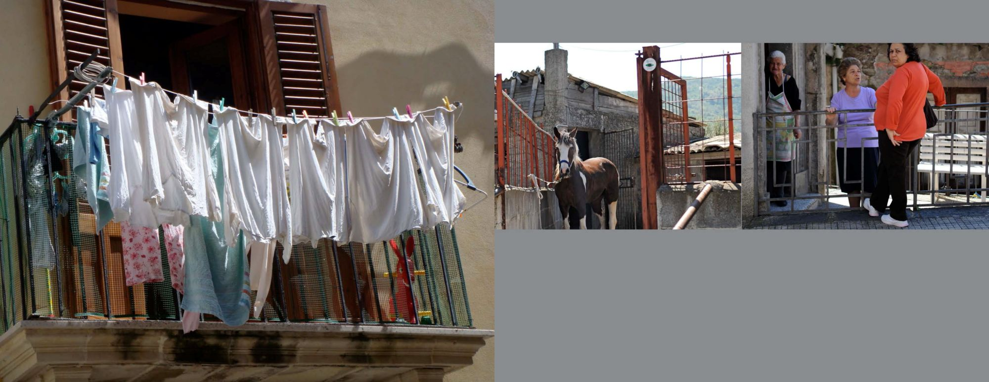 Sicily Album - Page 18: Drying clothes on the balcony / Page 19: Neighbors gossiping