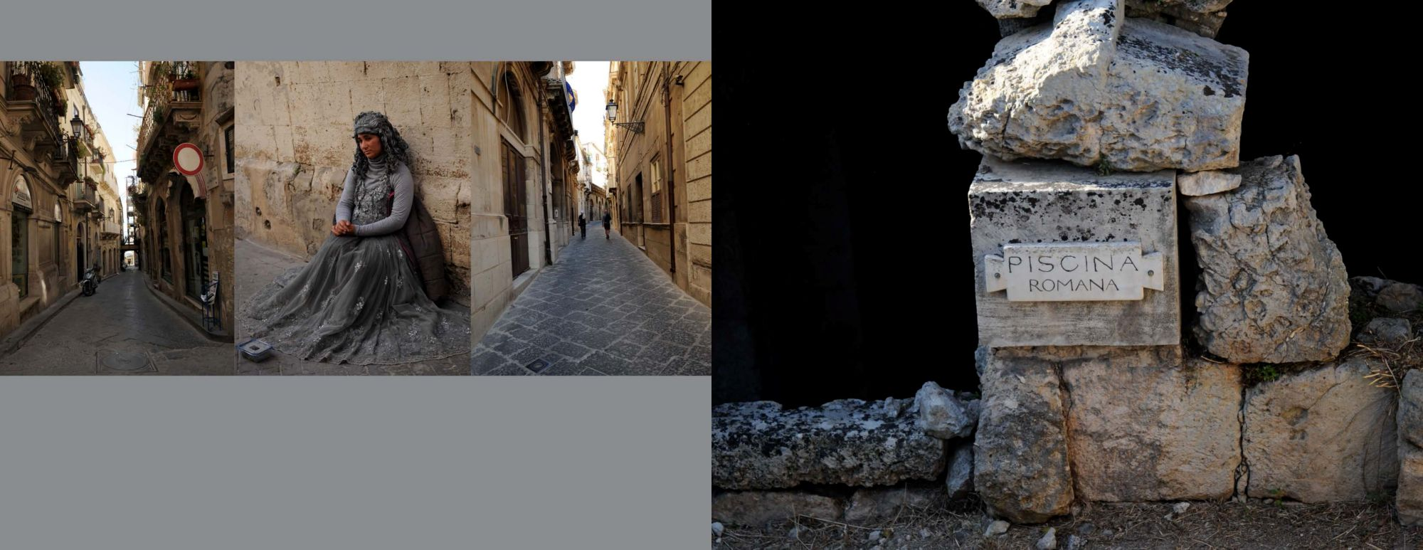 Sicily Album - Page 26: 2 Alleys and a corner / Page 27: Piscina Romana