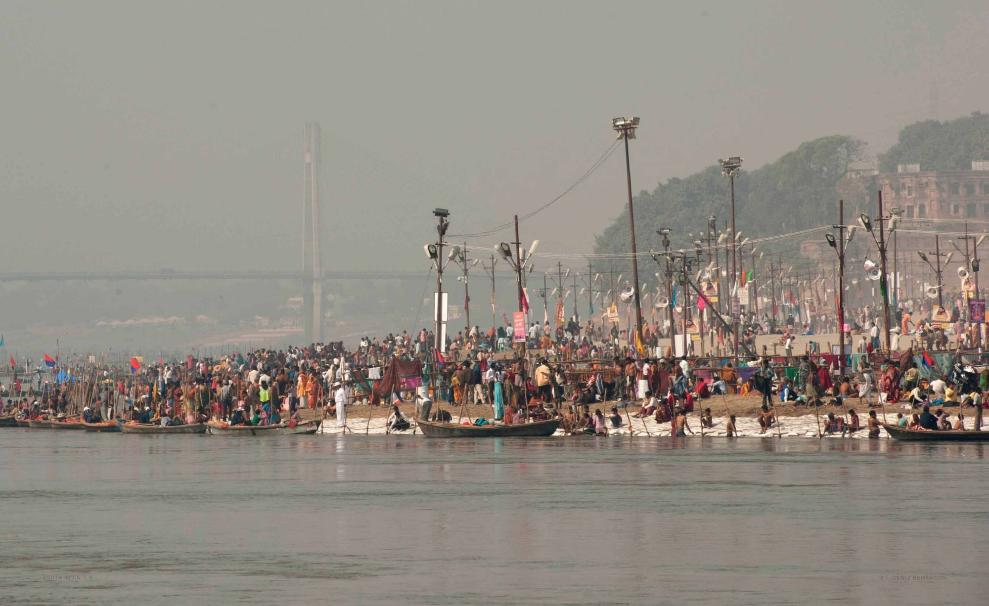 Pages 8-9: Kumbh Mela Festivities in the Ganges River in Allahabad