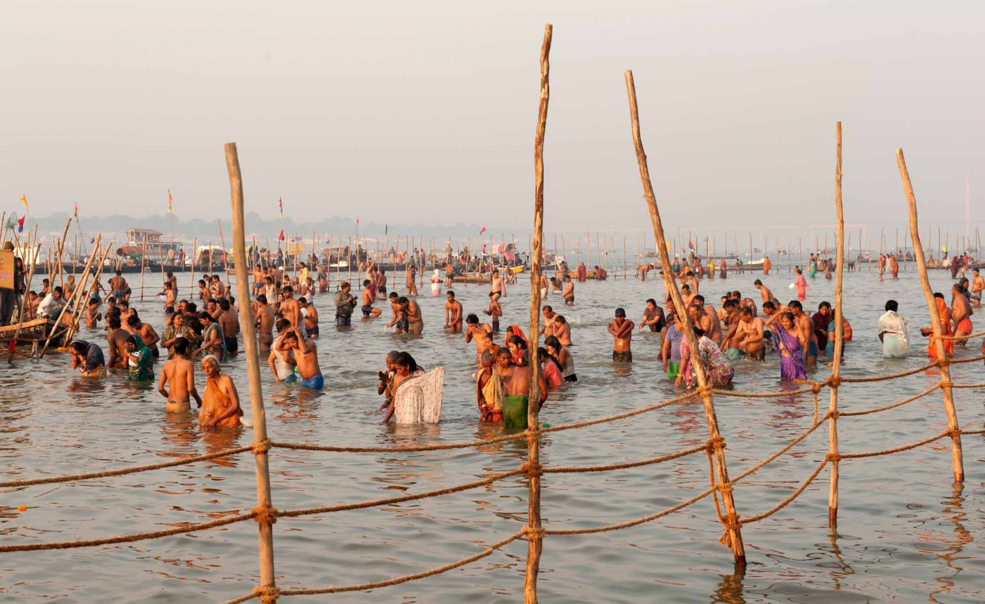 Pages 82-83: Immersing For the Kumbh Mela Festivities