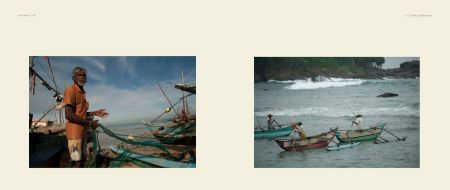 Sri-Lanka Album - Page 50: Fisherman with nets / Page 51: Fishermen in boats