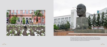 Pages: 142 & 143 - Ulan-Ude: The square of the Soviets with a statue of Lenin's head