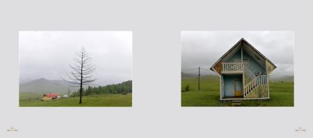 Page 166: Ulan Bator - Beautiful landscape / Page 167: An isolated wooden house
