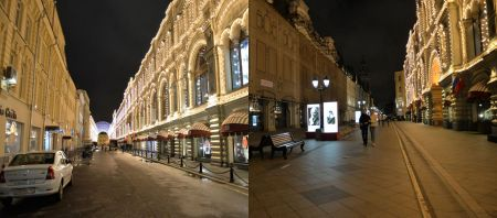 Pages: 22 & 23 - Moscow streets at night