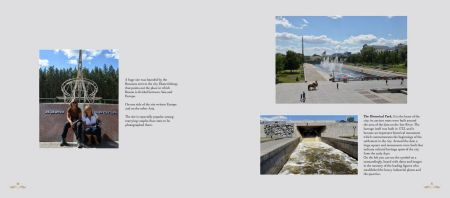 Pages: 80-81 Scenic park in Yekaterinburg on the Iset River - where Asia and Europe meet