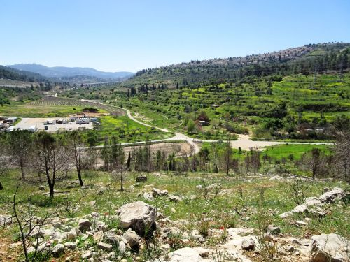 Jerusalem Trail: Looking down into the valley - © Deniz Bensason