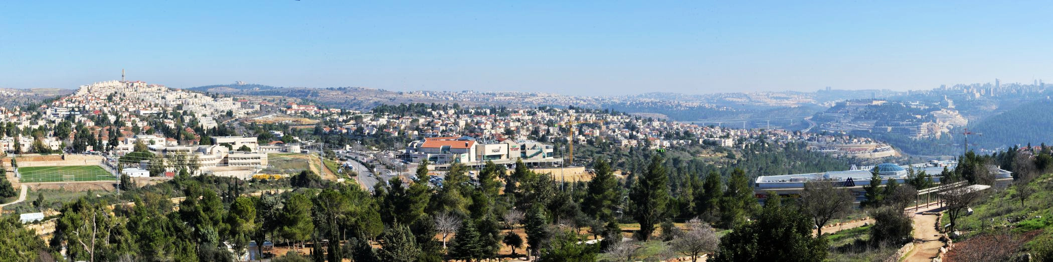 Panorama of the western approaches to Jerusalem - © Deniz Bensason