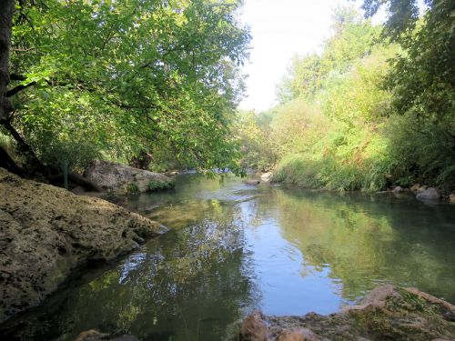 Israel National Trail - Section 01: The Hasbani near the Snir-Bridge
