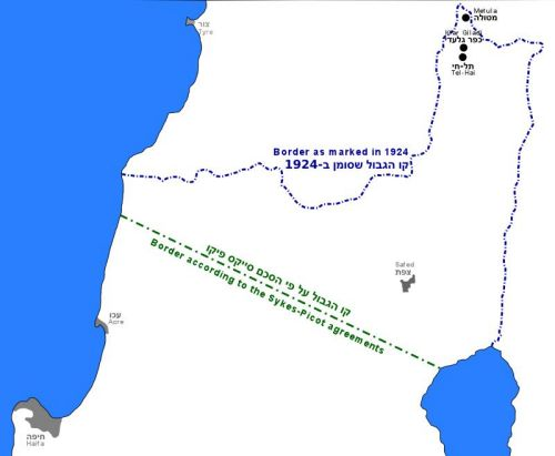 Israel National Trail - Section 02: Sykes-Picot Agreement borders