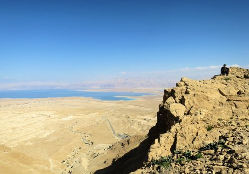 Dead Sea basin as seen from Mt. Elazar