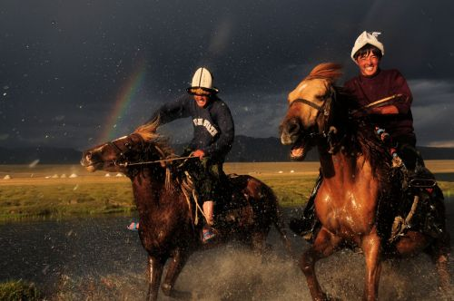 Kyrgyzstan: Horses, Water and Rainbow action