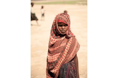 Children of the World: Ethiopia; girl, wrapped in  khimar