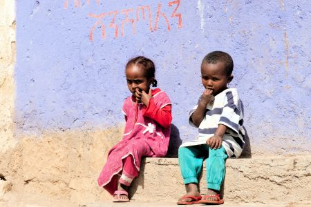 Children of the World: Ethiopia; two hungry kids