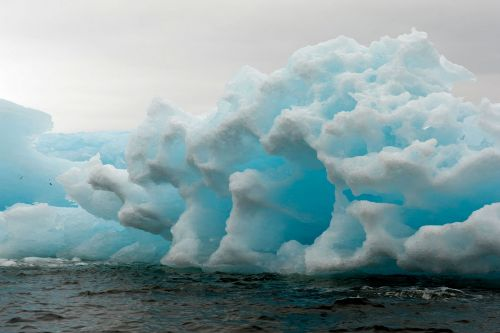 Landscapes/Icebergs and Pack ice - Lemaire Channel-Petermann Bay: Blue ice