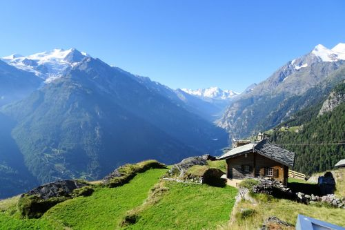 Landscapes/Mountains - Switzerland : A chalet in the mountains between St Nicholaus and Gruben