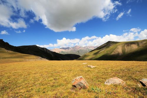 Landscapes/Mountains - Kyrgyzstan: A sunny day in the Kyrgyz highlands