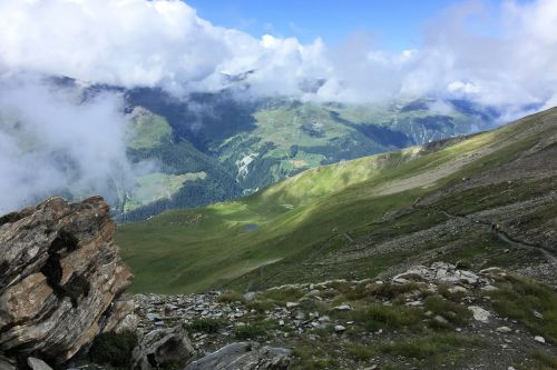 Landscapes/Mountains - Switzerland, Pennine Alps: When clouds meet mountains
