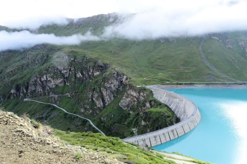Landscapes/Mountains - Switzerland, Grimentz: View of the Moiry Dam that creates Lac de Moiry