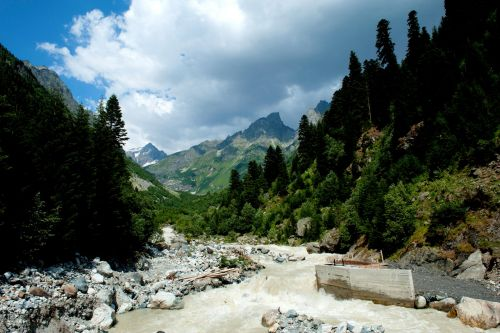 Landscapes/Mountains - Svaneti Region, northwest Georgia: Treking along the Ildra River