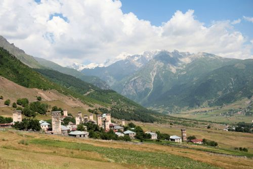 Landscapes/Mountains - Enguri gorge, Svaneti Region, Georgia: Ushguli