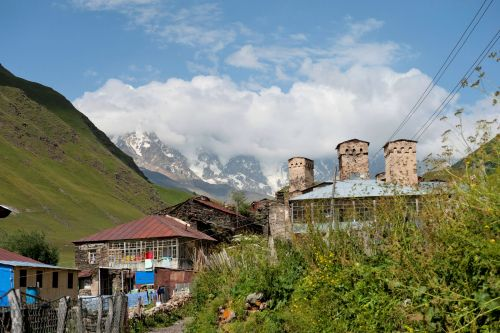 Landscapes/Mountains - Enguri gorge Svaneti Region, Georgia: Ushguli - UNESCO World Heritage Site