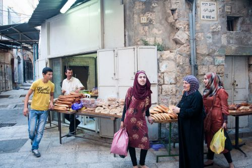 Markets-Patrons & Punters - Old City market, Jerusalem, Israel: A call from above?.