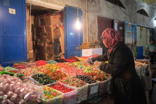 Markets-Patrons & Punters - Old City market, Jerusalem, Israel: A choice of confectioneries