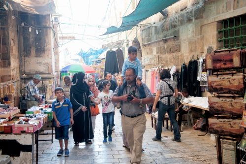 Markets-Patrons & Punters - Old City market, Jerusalem, Israel: Family shopping day