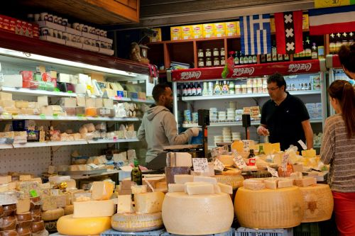Markets-Products - Carmel Market (Hebrew: שוק הכרמל  Shuk HaCarmel), Tel Aviv: Cheese from all over the world