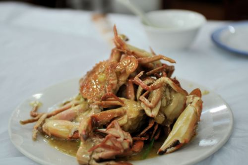 Markets-Products - Lijiang market, China: A plate of sea food