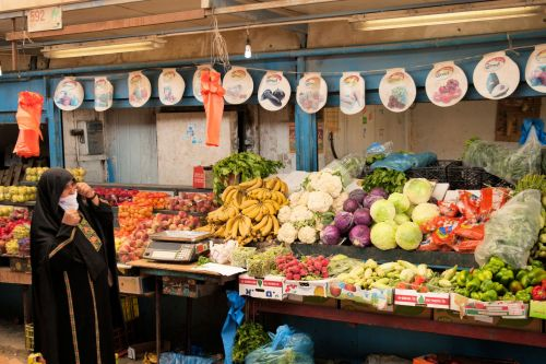 Markets: Fruit & Veg - Market, Be'er Sheva, Israel: Fruit and vegetable stall (Client-No Vendor)